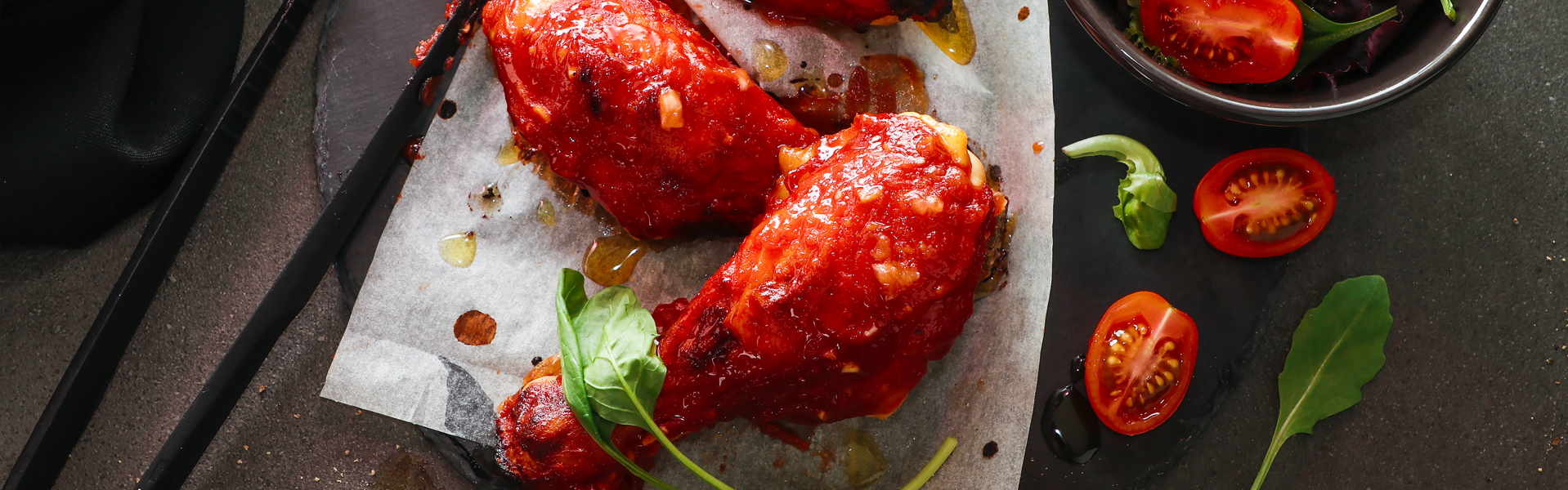 Cosce di pollo in salsa BBQ