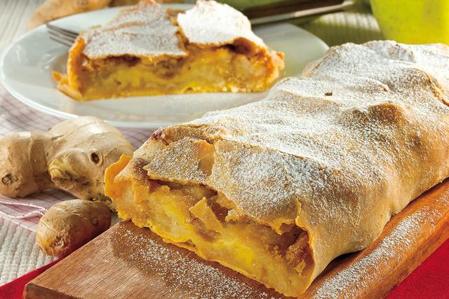 Sobremesa: Torta de Maçã com gengibre