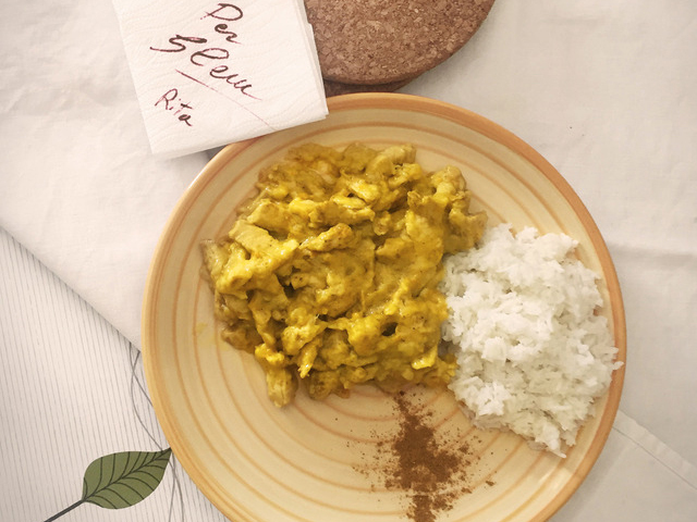 Secondi: Il pollo al curry di Rita