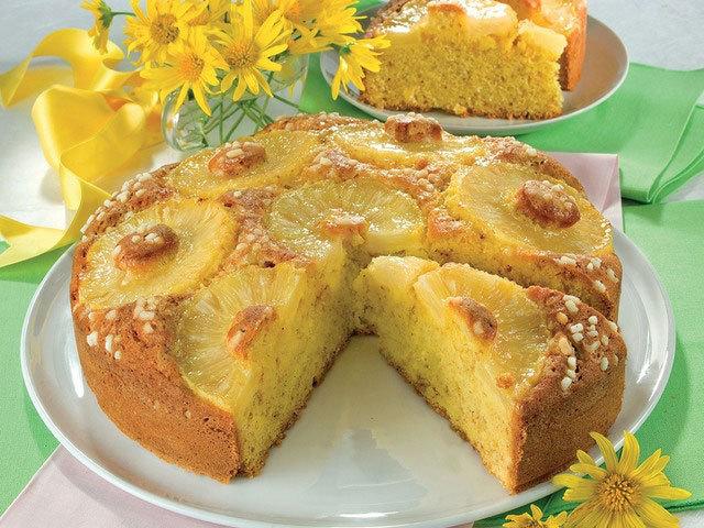 Sobremesa: Torta de ananás rústica