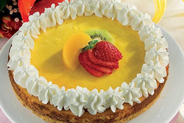 Cheesecake de baunilha