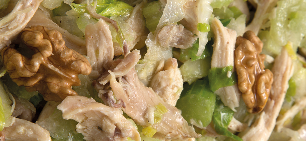 Chicken, celery and walnut salad