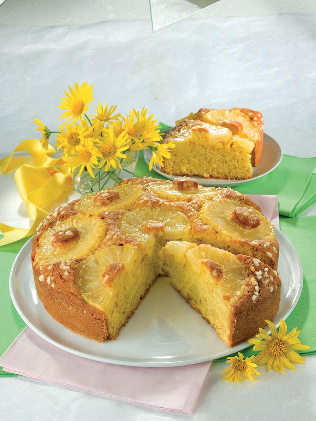 Деревенский пирог с ананасами