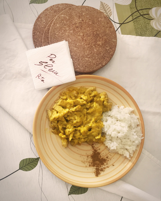 Il pollo al curry di Rita