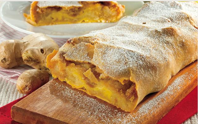 Desserts: Ginger Apple Strudel