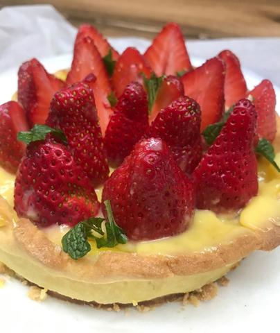 甜點: 草莓派