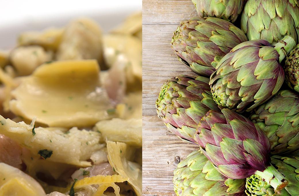 """Veal """"Straccetti"""" with artichokes"""