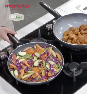 A Glem hob and Moneta pans join forces in Agnese's recipes!