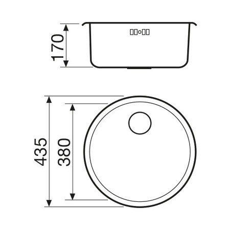 Disegno tecnico Lavello Inox - GLR43X2 - Glem Gas
