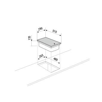 Diseño técnico Dominó eléctrico 30 cm - GT3FIX - Glem Gas