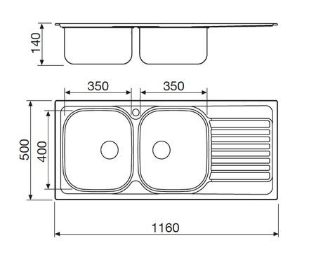Disegno tecnico Lavello Inox - GL216IXS - Glem Gas