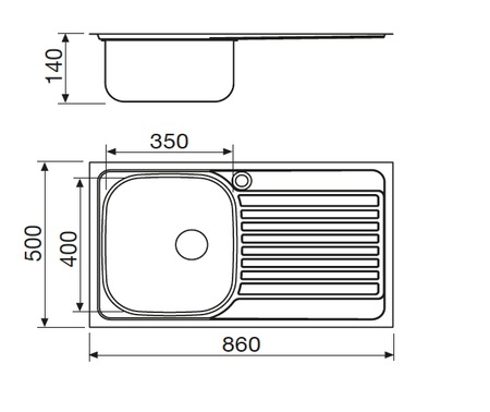 Disegno tecnico Lavell Inox - GL186IXS - Glem Gas