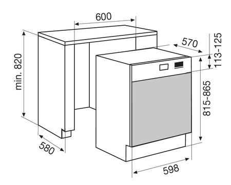 Dessin technique Lave-vaisselle semi-intégrable 60 cm inox - GDS645IX - Glem Gas