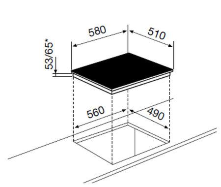 Desenho técnico Placa de indução - GTI642N - Glem Gas