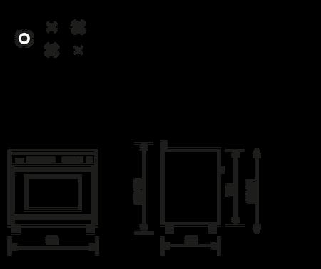 Disegno tecnico Forno multifunzione a gas ventilato - ST96TVI - Glem Gas