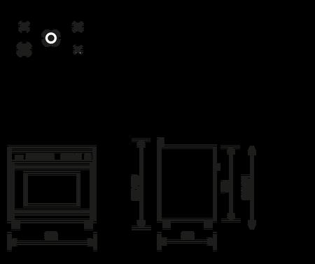 Disegno tecnico Forno multifunzione elettrico termoventilato - ST965MBK - Glem Gas