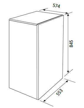 Dessin technique Table top blanc - GRTF11A - Glem Gas