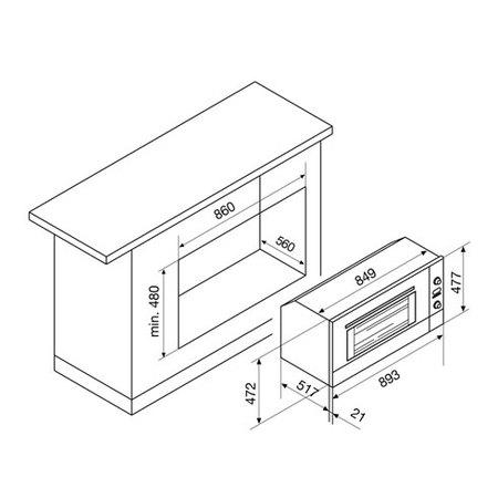 Desenho técnico Forno elétrico multifunções - GF993IXN - Glem Gas