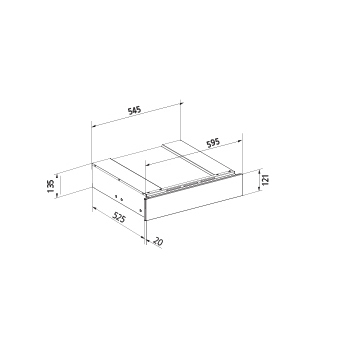 Technical drawing Warming drawers - GFCWDIX - Glem Gas