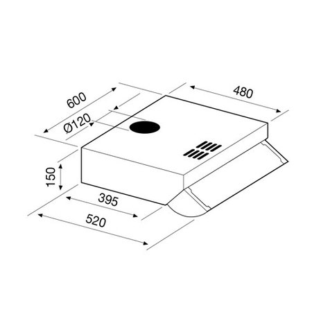 Desenho técnico Exaustores standard - GHL610BR - Glem Gas