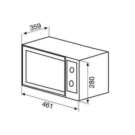 Desenho técnico Forno micro-ondas de linha livre - GMF204IX - Glem Gas
