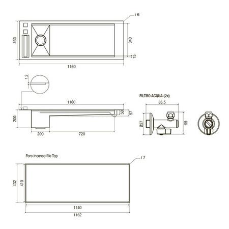 Disegno tecnico Aquapiano - GPLAQUIX - Glem Gas