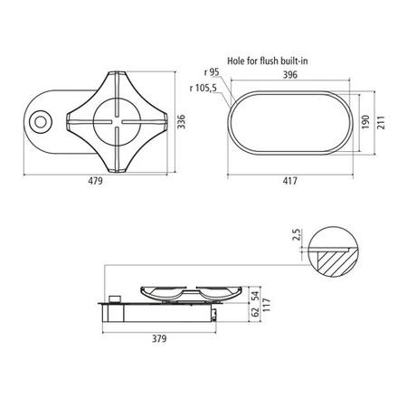 Disegno tecnico Monofuoco Stellare - GPMS1AIX - Glem Gas