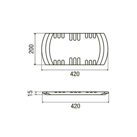 Disegno tecnico Tagliere Origine - GPTAG043 - Glem Gas