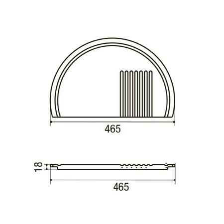 Disegno tecnico Tagliere Origine - GPTAG051 - Glem Gas