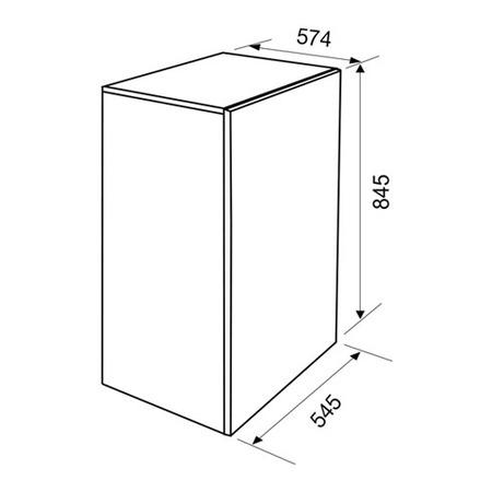 Dessin technique Réfrigérateur pose libre - GRTF11A - Glem Gas