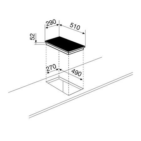 Desenho técnico Placa de indução - GTI322 - Glem Gas