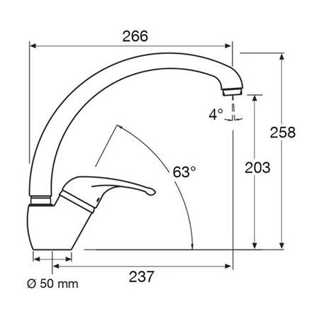 Disegno tecnico Miscelatore - MIXCX3 - Glem Gas