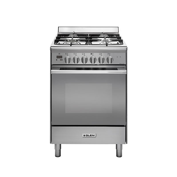 Dual fuel 60cm stainless steel cooker - UN664EI