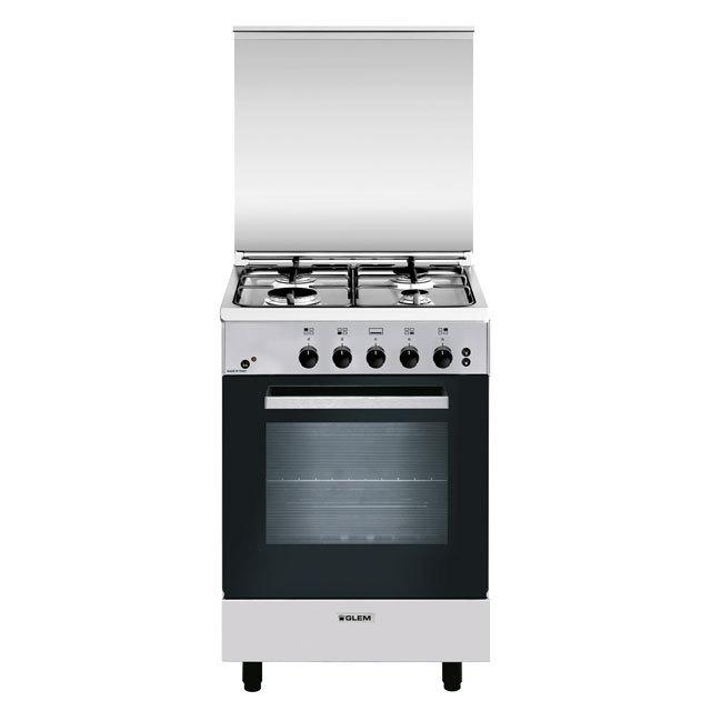 Cuisinière gaz émail lisse 53 x 50 cm inox - GA550MIX