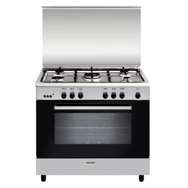 Cuisinière gaz émail lisse 90 x 60 cm inox - GA960MIX2