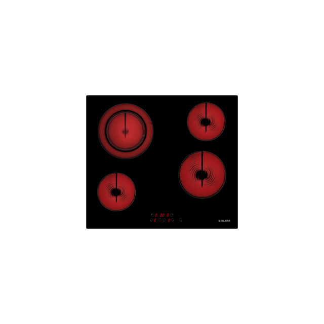 Placa vitrocerámica 4 zonas - GTH64TF