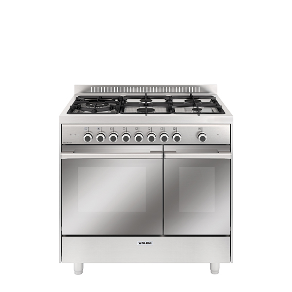 Piano de cuisson double four inox
