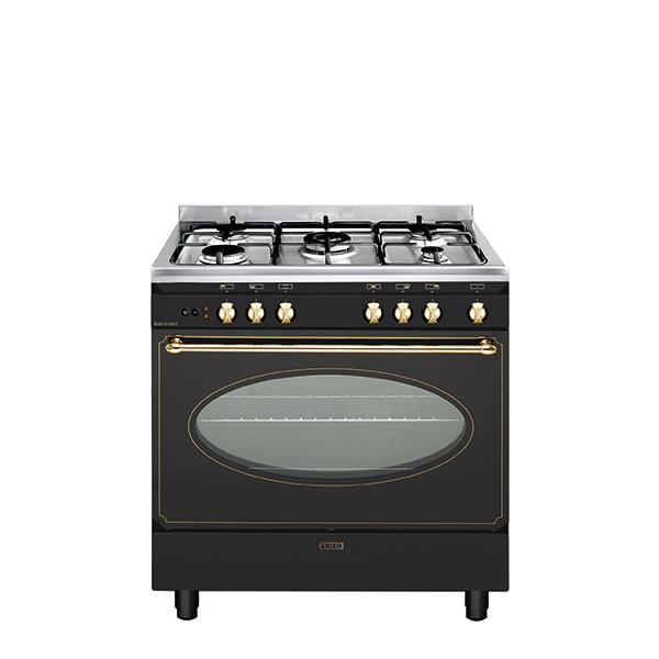 Cuisinière rustique électrique catalyse 80 x 50 cm noire/inox - GU850CER
