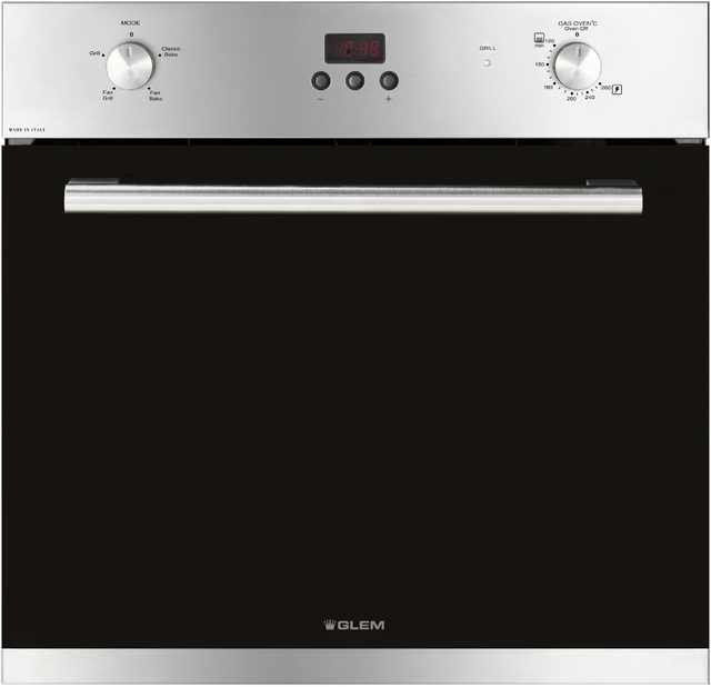 60cm Stainless Steel Fan Assisted Gas Oven - GF64GEI