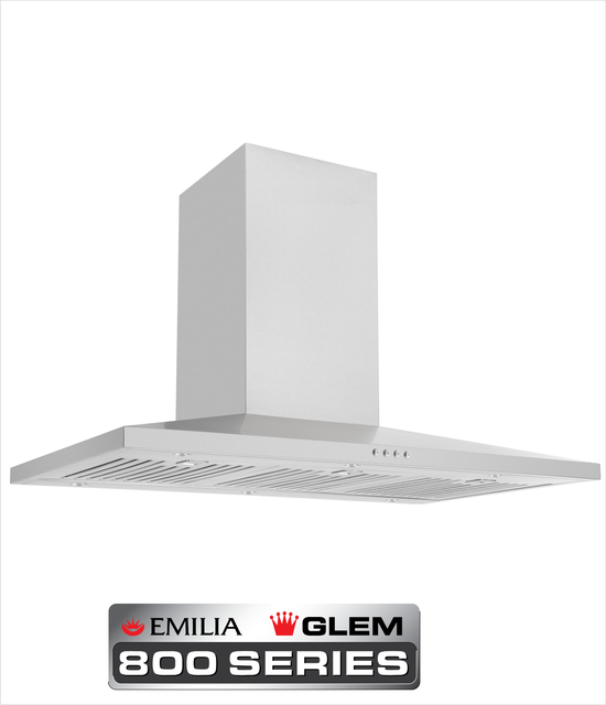 NEW 90 cm Stainless Steel Slim Line Low Profile canopy rangehood