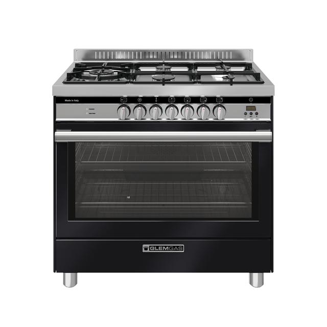 Gloss Black 90cm Dual fuel Cooker - GS965GEN