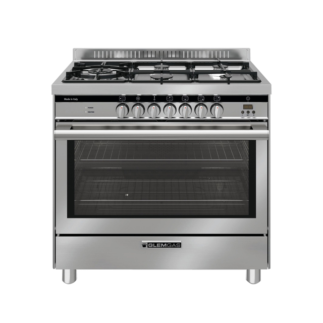 Stainless Steel 90cm Dual Fuel Cooker - GS965GE
