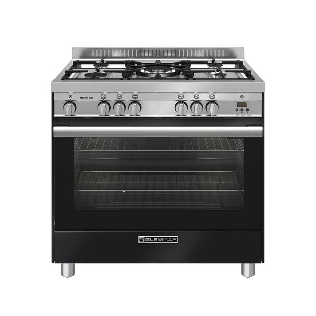 Gloss Black 90cm Gas Cooker - GA965GGXN