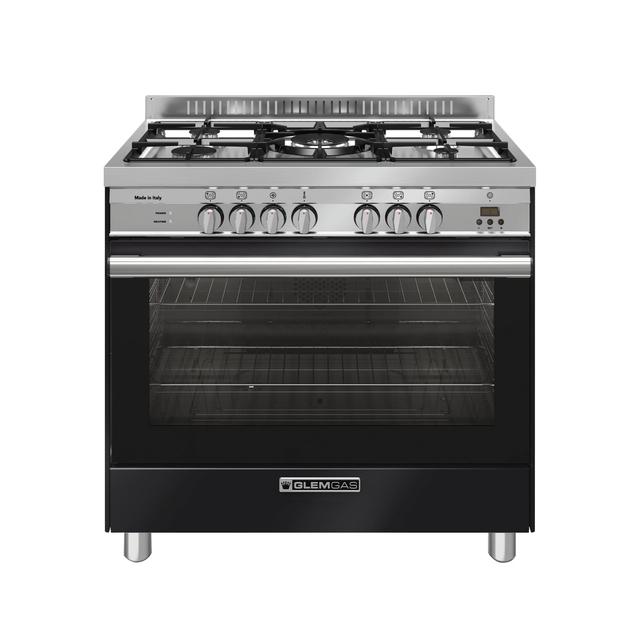 Gloss Black 90cm Dual Fuel Cooker - GA965GEXN