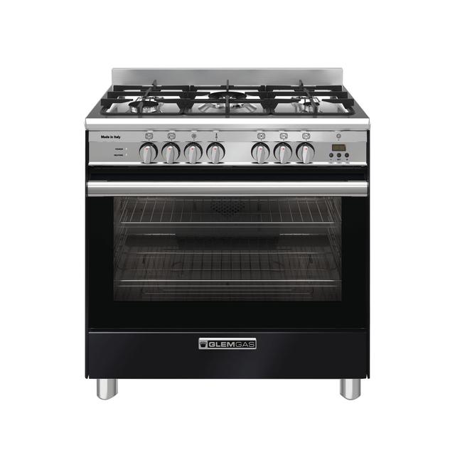 Gloss Black 80cm Dual Fuel Cooker - GA865GEN