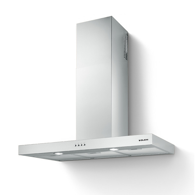 Campana cuadrada a pared de 90 cm