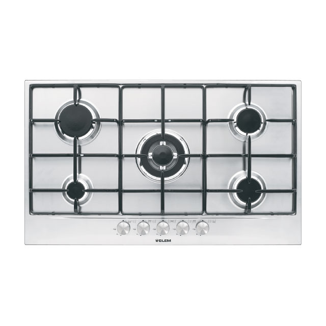 Gt955ix gas hob 90 cm cooking products glem gas - Plaque gaz 2 feux ikea ...