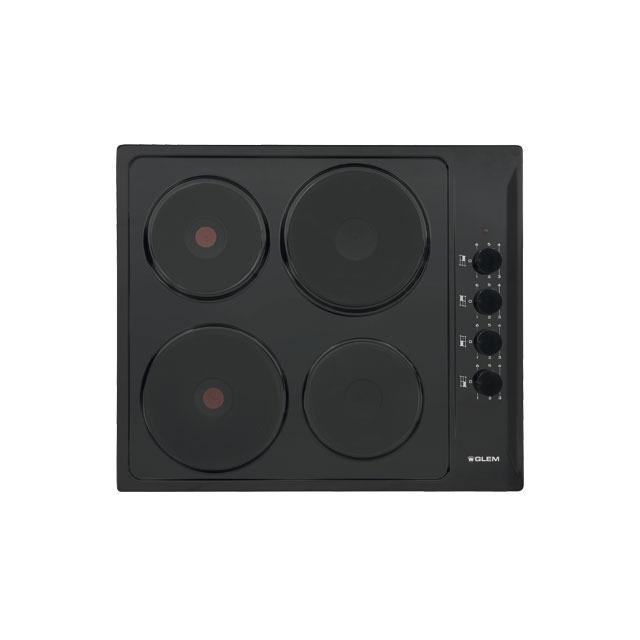 Table électrique 4 foyers 60 cm émaillée noire - GTL640BK